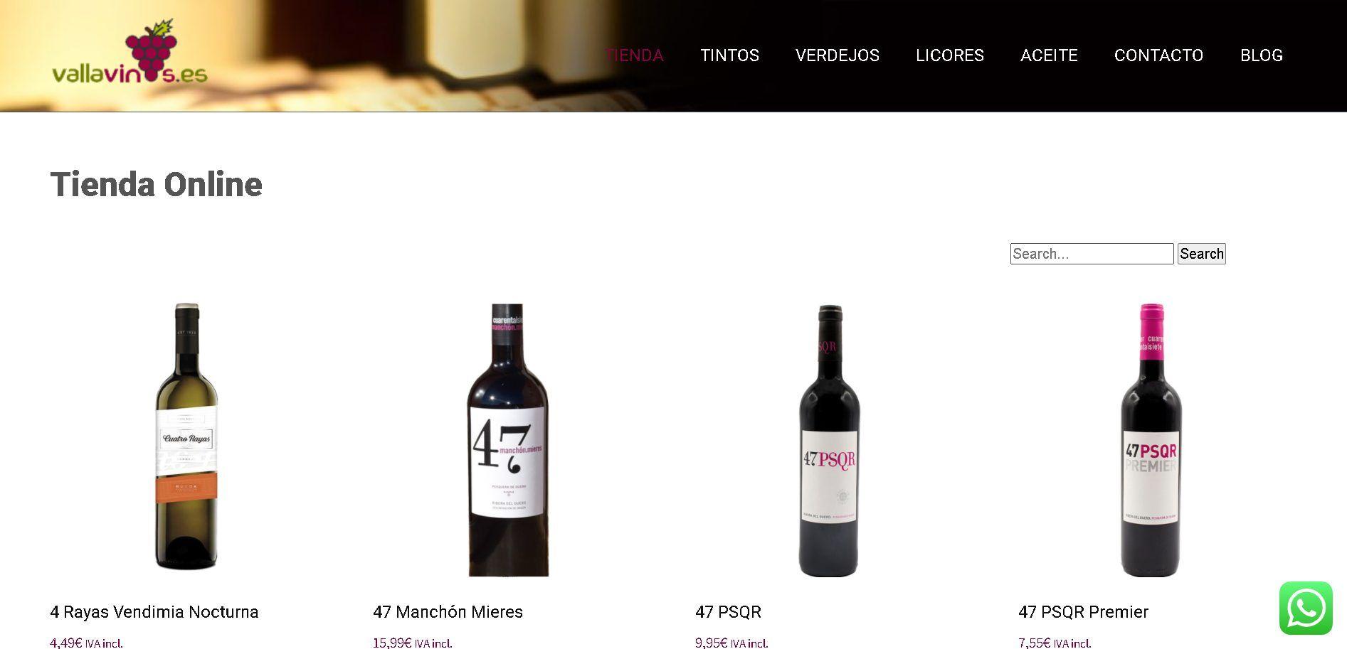 Vallavinos-diseño-pagina-web